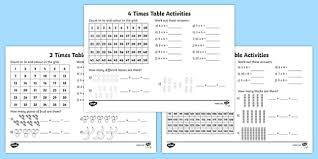 3times Table Year 3 Times Table Activity Pack
