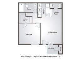 1 Bedroom 1 1 2 Bath House Plans 2 Bedroom Apartment Floor Plans U0026 Pricing U2013 Domain 3201 Tucson Az
