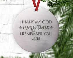 personalized remembrance ornaments metal ornament etsy