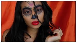 Sugar Skull Halloween Makeup Tutorial by Super Easy Sugar Skull Halloween Makeup Tutorial Youtube