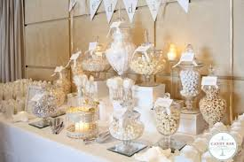wedding candy table ivory and white wedding candy buffet party styling how to guides