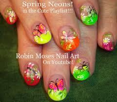 robin moses nail art neon nail art neon fire nail art bright nail