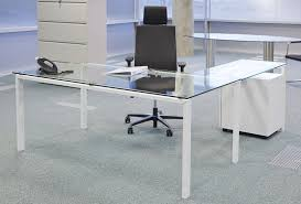 Glass Computer Desk With Drawers Glass Computer Desk With Drawers Glass Computer Desk With