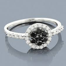 black diamond promise ring black diamond promise ring 14k 0 52ct