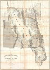 Utah Idaho Map Supply by Utah Surveying History