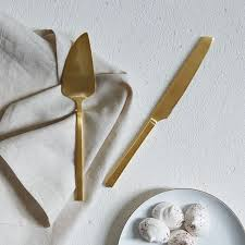 gold cake knife set west elm