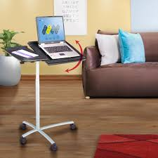Adjustable Rolling Laptop Desk by Graphite Sit To Stand Rolling Adjustable Laptop Cart Rta B001n