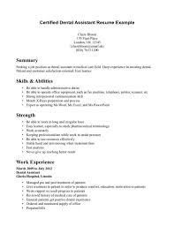 Accountant Assistant Resume Sample by Good Looking Summary Skills And Abilities For Dental Assistant