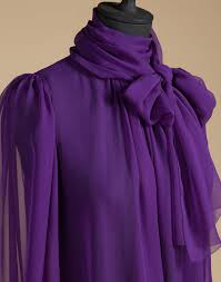 purple blouses lyst dolce gabbana blouse in silk chiffon with bow in purple