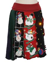 light up christmas skirt 1980s womens lightup ugly christmas sweater skirt womens unique one