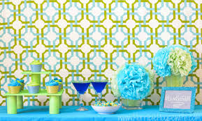 cocktails and cupcakes party with lime and blue decor