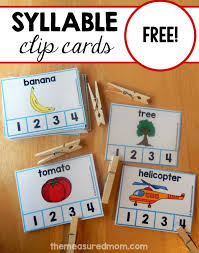 fun syllable count activity the measured mom