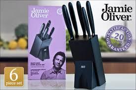 scoopon jamie oliver 6 piece knife u0026 block set delivered