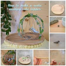 birds of a feather a rustic wedding cake topper
