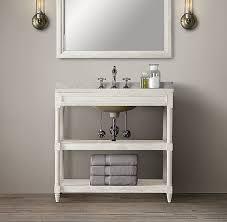 Restoration Hardware Bathroom Vanity by Weathered Oak Single Washstand Burnside Guest Bath Pinterest
