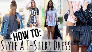 fall lookbook how to style a t shirt dress youtube