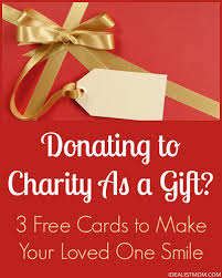donating to charity as a gift 3 cards to make your loved