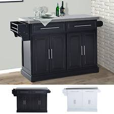 black kitchen island with stainless steel top stainless steel kitchen island ebay
