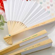 personalized folding fans for weddings personalized white paper fan wedding favors destination favors