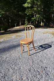 Bentwood Bistro Chair Vintage Thonet Style Bentwood Bistro Chair Cane By Panchosporch