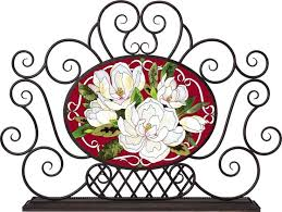 Flower Glass Design 25 Best Stained Glass Spark Fireplace Screens Images On Pinterest