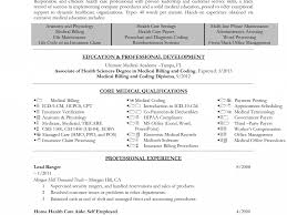 Medical Coder Sample Resume by 100 Sample Resume Of Health Care Aide Healthcare Cover