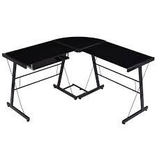 l shape glass top computer desk desks office furniture furniture