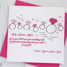 happy engagement card write name on happy engagement wishes card and greeting card my