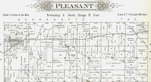 Illinois Township Map by 1895 Atlas Of Fulton County Illinois Pleasant Township