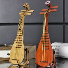 creative diy wooden lute model to be assembled musical instruments