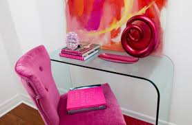 Pink Glass Desk 30 Best Glam Girly Feminine Workspace Design Ideas