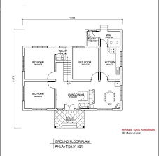 Floor Plans With Measurements Exellent Simple House Floor Plan With Dimensions Modern Plans