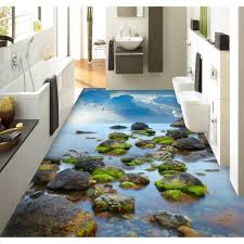 3d Bathroom Design Colors Bathroom Painting Isleand Bath Ocean Stickers Custom 3d Design