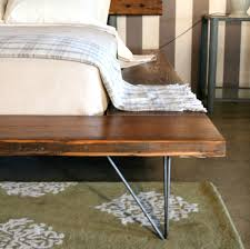 reclaimed wood platform bed frame handmade sustainably in los