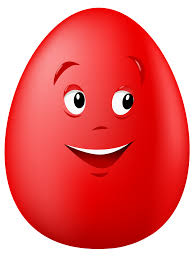 transparent easter red smiling egg png clipart picture gallery