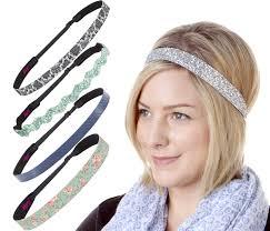 hipsy headbands hipsy 2pk women s adjustable no slip headband golden