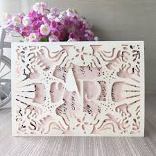 Silver Anniversary Invitation Cards 100pcs Lotnew Arrival Laser Cut Paper Cards With Sea Star U0026 Shell