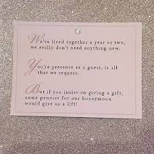 gift card wedding shower invitation wording best 25 wedding gift poem ideas on honeymoon fund