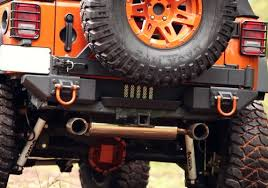 rugged ridge jeep wrangler black powder coat xhd rear bumper pods
