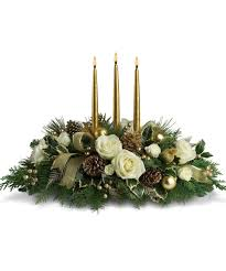 White Christmas Centerpieces - start your holiday shopping with floral décor and christmas