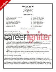 Hr Resume Templates Cover Letter For Human Resources Generalist