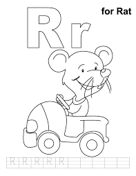 r is for rat free alphabet coloring pages alphabet coloring