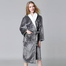 robe de chambre pour spa plus la taille d hiver couples robes corail velours exquis peignoirs