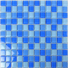 glass mosaic tiles blue mix 25x25x8mm tm33280m