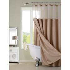 Brown Waffle Weave Shower Curtain by Complete 72 In Mocha Shower Curtain Cscdlmo The Home Depot