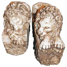marble lions for sale pair of marble lions for sale at 1stdibs