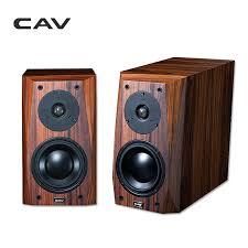 cav fl 25 wired hi fi speaker high end bookshelf wood veneer