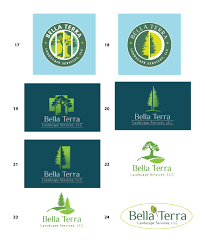 Bella Terra Landscape by Tree U0026 Flower Logo Design Samples Mdesign Media