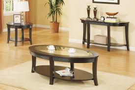 coffee table round dark wood and end sets tables 3 piece set