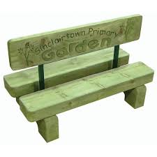 personalised garden bench from early years resources uk